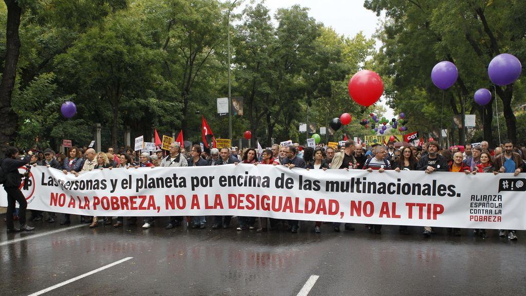 Manifestación contra el TTIP