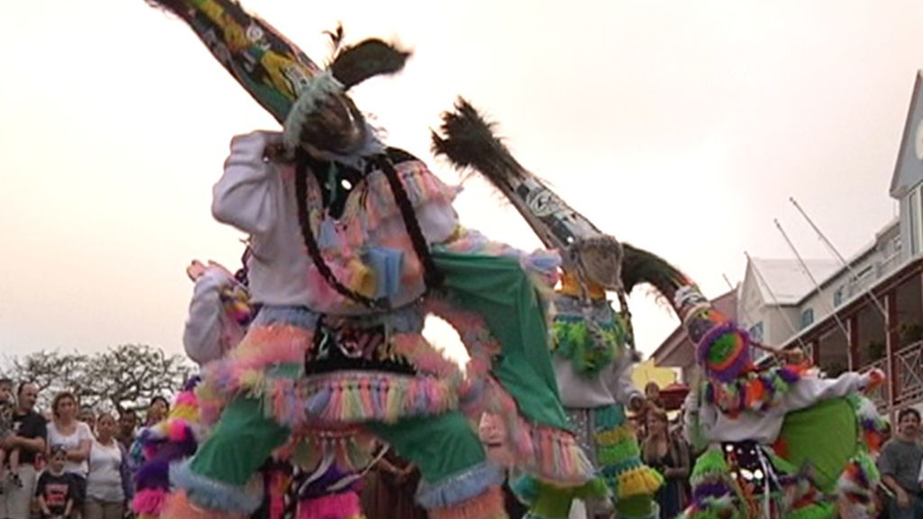 Un baile típico durante la celebración del Día de Bermudas