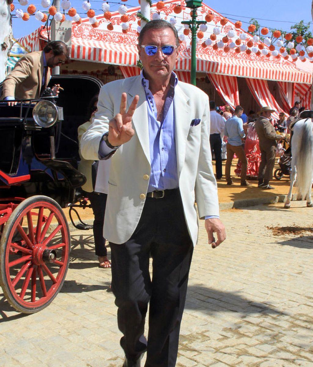 El periodista Carlos Herrera, siempre fiel a la Feria