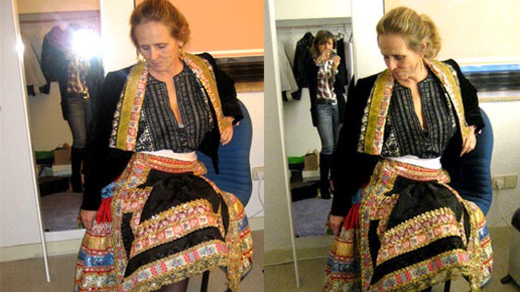 Milá, vestida de lagarterana