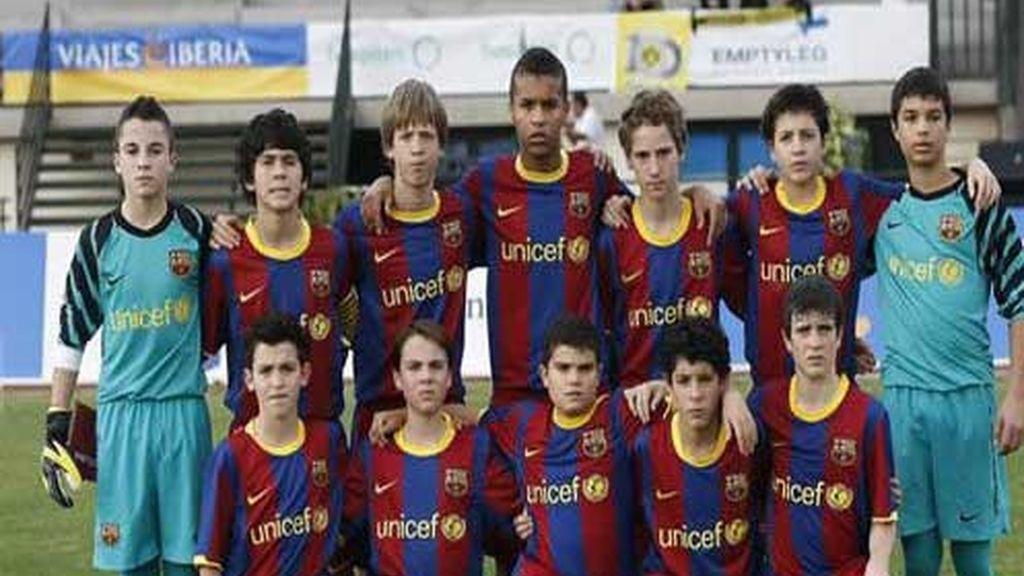 Jugadores del Barça