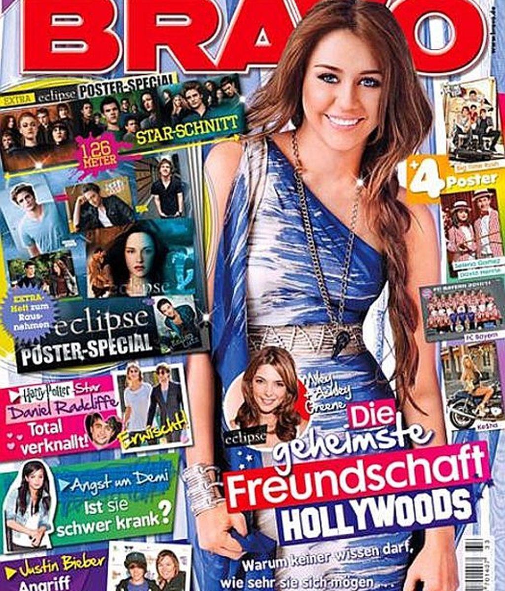 Las revistas se disputan a Miley Cyrus