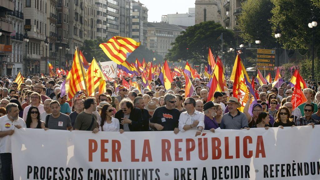 Manifestación por la República enValencia
