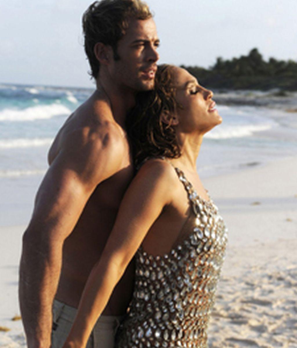 """Jennifer López y William Levy durante el rodaje de """"I'm into you"""""""