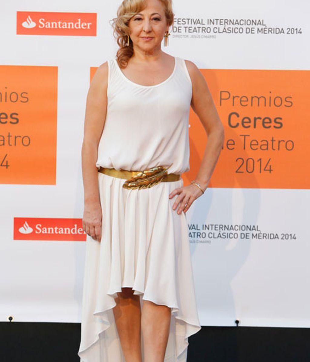 Carmen Machi con un 'look' rubio platino