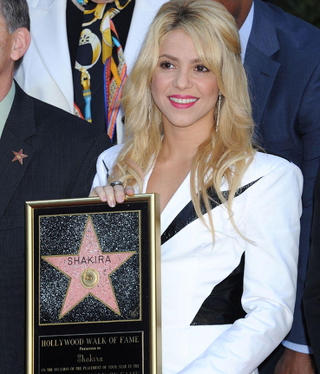 Shakira ya tiene estrella en el Paseo de la Fama