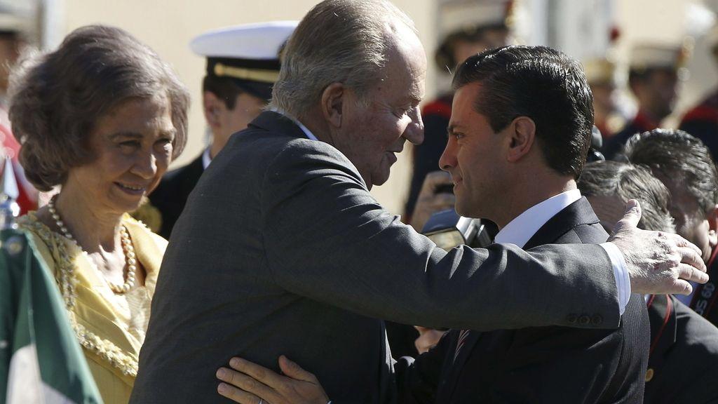 El Rey Don Juan Carlos recibe a Peña Nieto