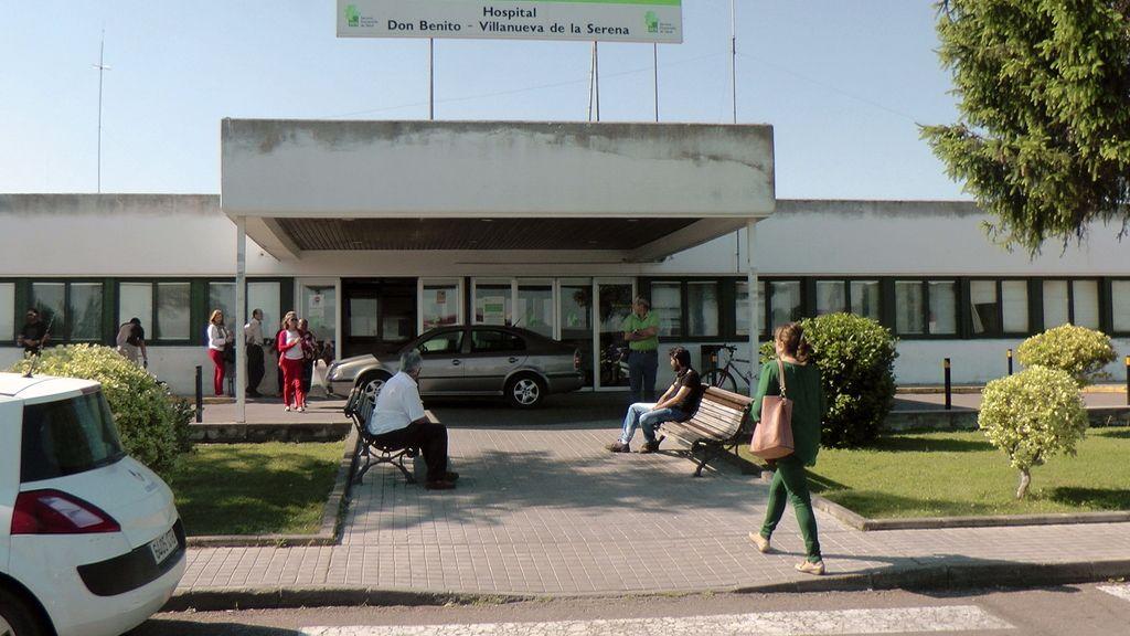 .Vista de la fachada del Hospital Don Benito-Villanueva de la Sererna