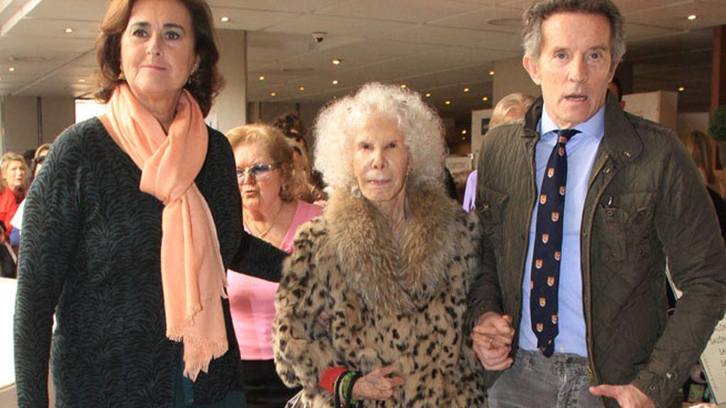 Doña Cayetana se apuntó a la moda del 'animal-print'