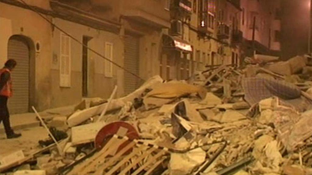 Se derrumba un edificio en el centro