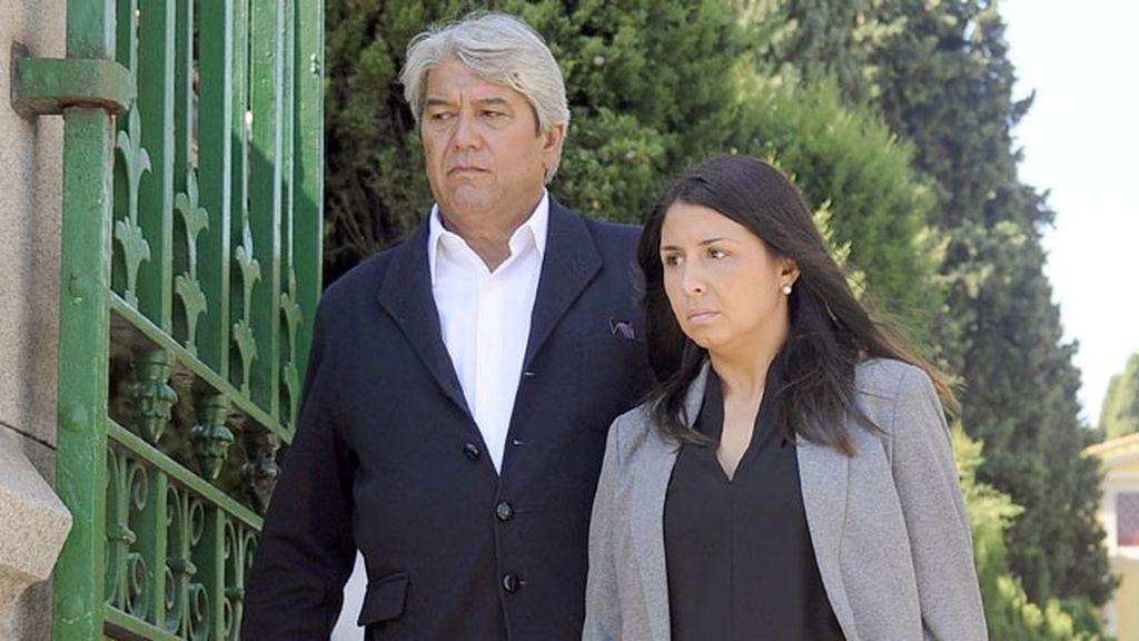 José Verdasco y su hija Sara también acudían a dar sepultura a Boyer