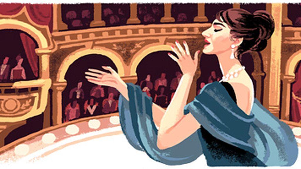 Maria Callas homenajeada en el doodle de Google