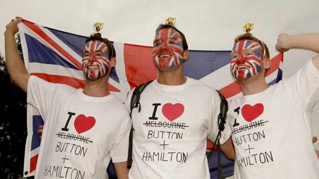 Seguidores de Hamilton y Button