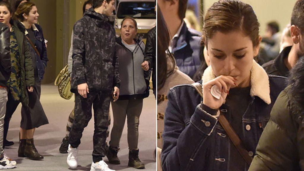 Blanca Suárez y Joel Çbosqued, juntos: ambos actores lucieron 'look casual'
