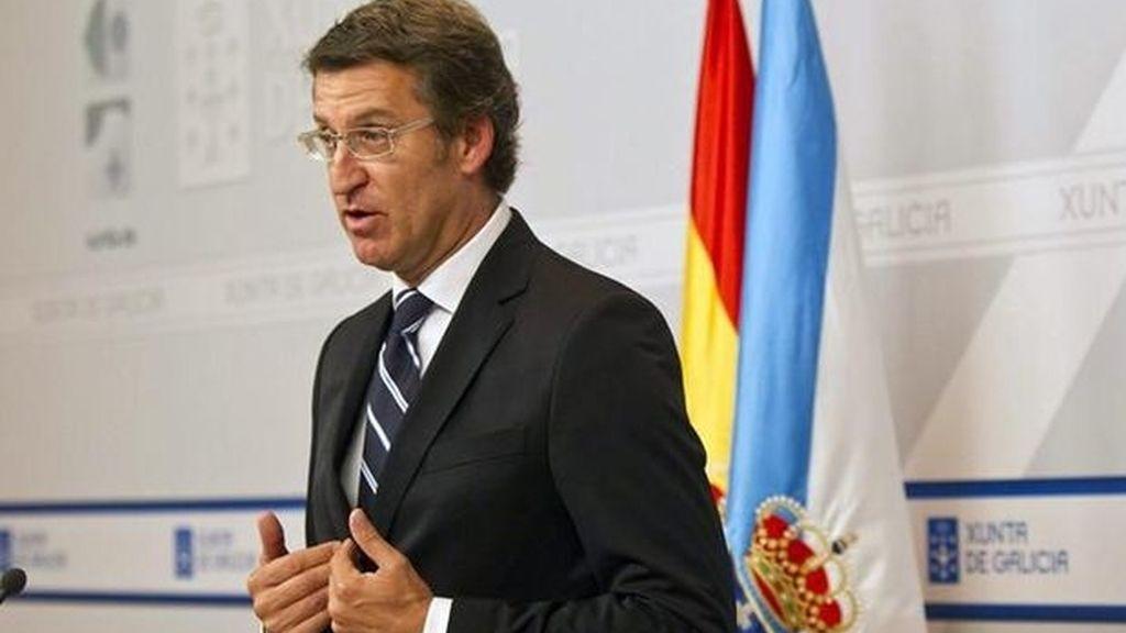 El presidente de la Xunta de Galicia, Alberto Nuñez Feijóo