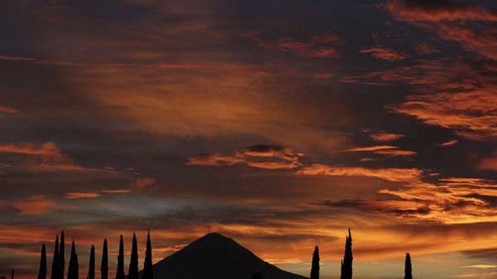 Volcán Popocatepetl, en México
