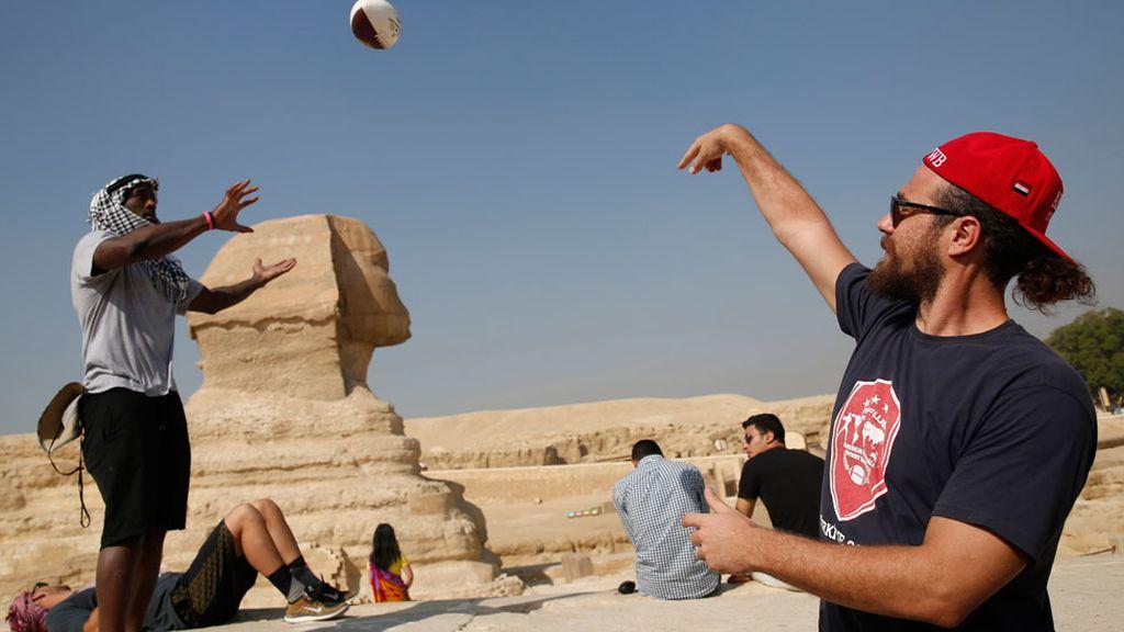 Fútbol Americano en las Pirámides de Egipto (01/03/2016)