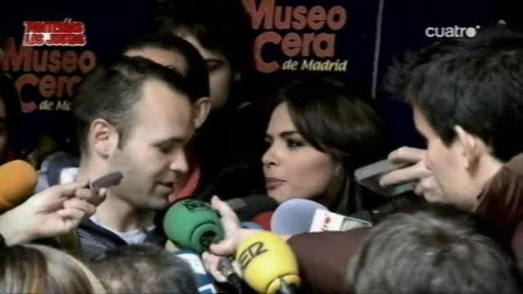 Romina estuvo con Villa e Iniesta