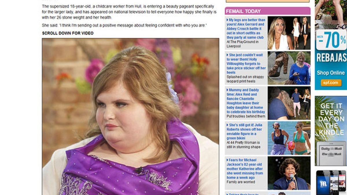 """Peso 160 kilos pero me siento hermosa y feliz"""