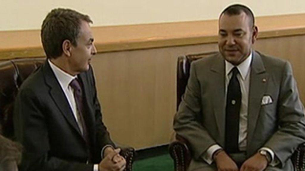 Zapatero se reúne con Mohamed VI