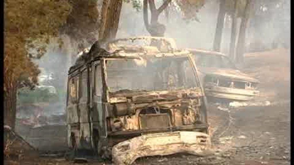Espectacular evacuación por incendio en Ibiza