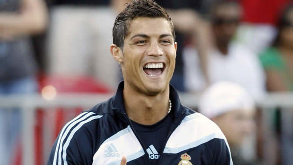 Cristiano Ronaldo, feliz con el Madrid
