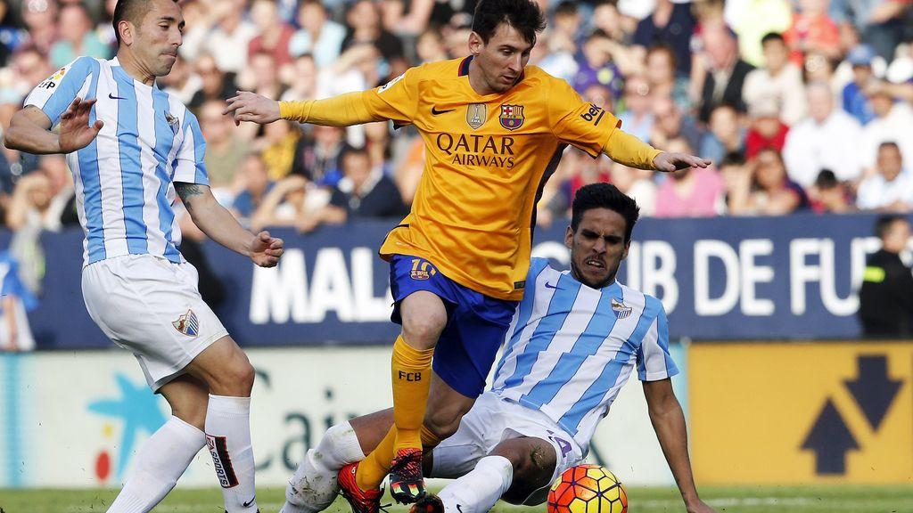 Messi se zafa de sus rivales blanquiazules