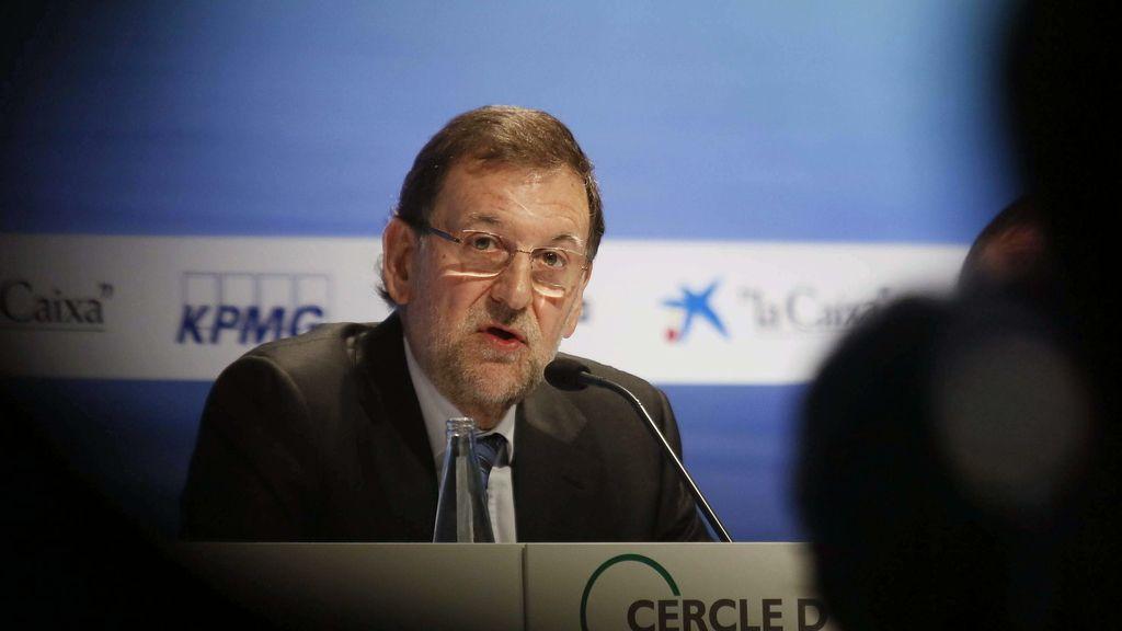 El presidente del Gobierno, Mariano Rajoy, en Sitges