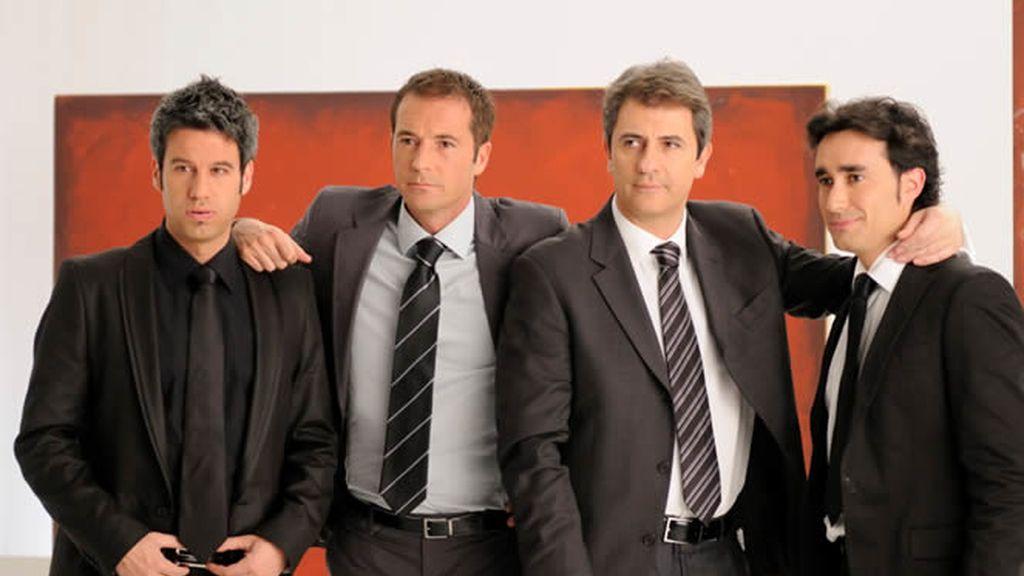 Los hombres de deportes de Cuatro, de gala