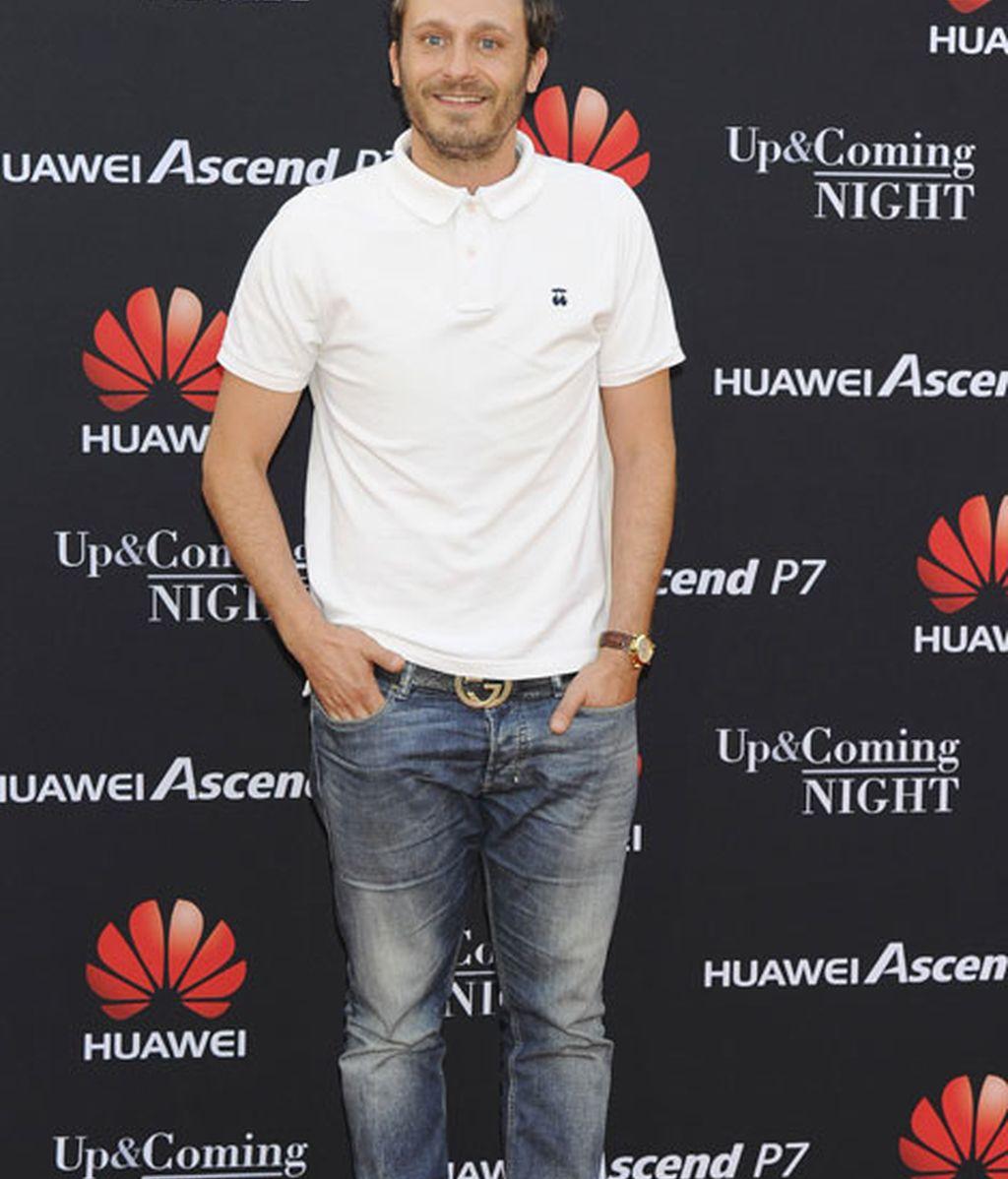 El cantante Juan Peña en el 'photocall' del evento