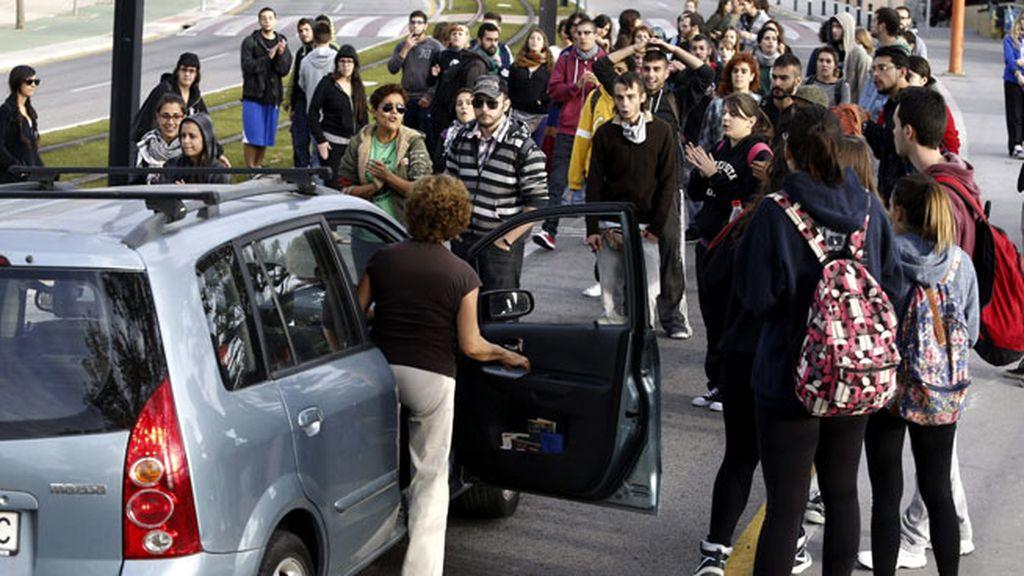 Piquetes en la universidad de Murcia