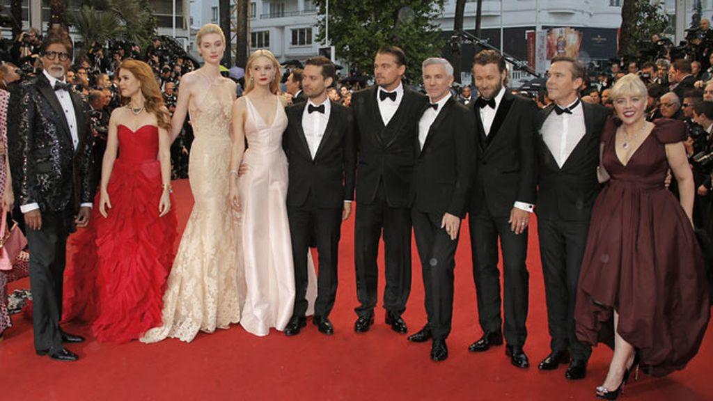 El reparto de 'El Gran Gatsby' posa orgulloso tras el éxito de su película