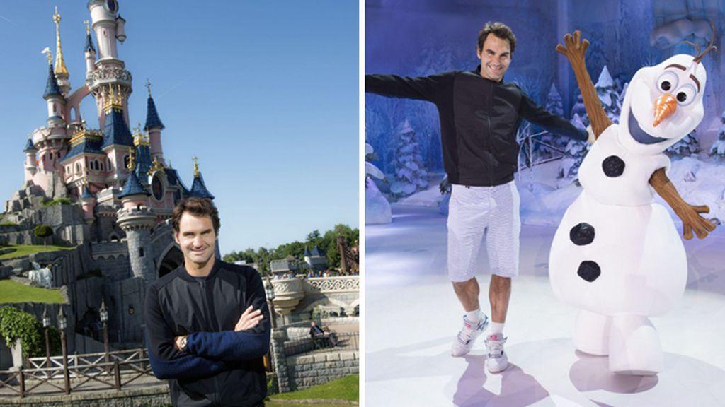 Roger Federer hace una parada en Disneyland París