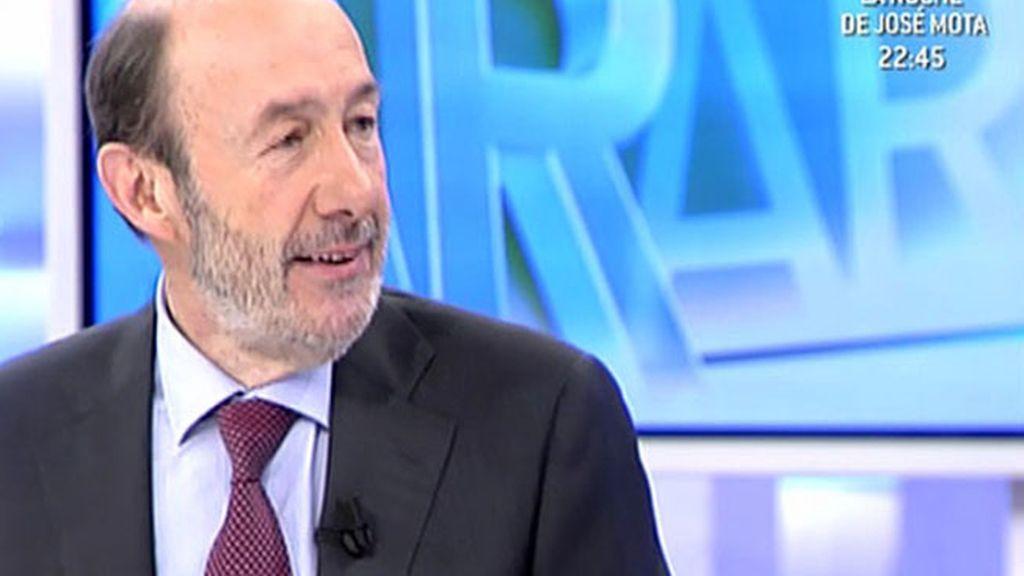 Entrevista de Alfredo Pérez Rubalcaba en Ana Rosa