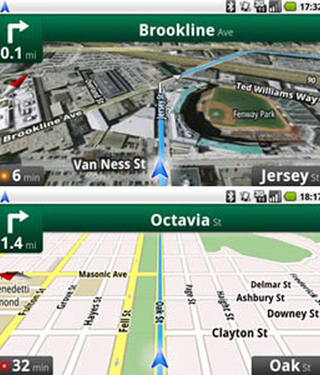 Imágenes de Google Maps Navigation.