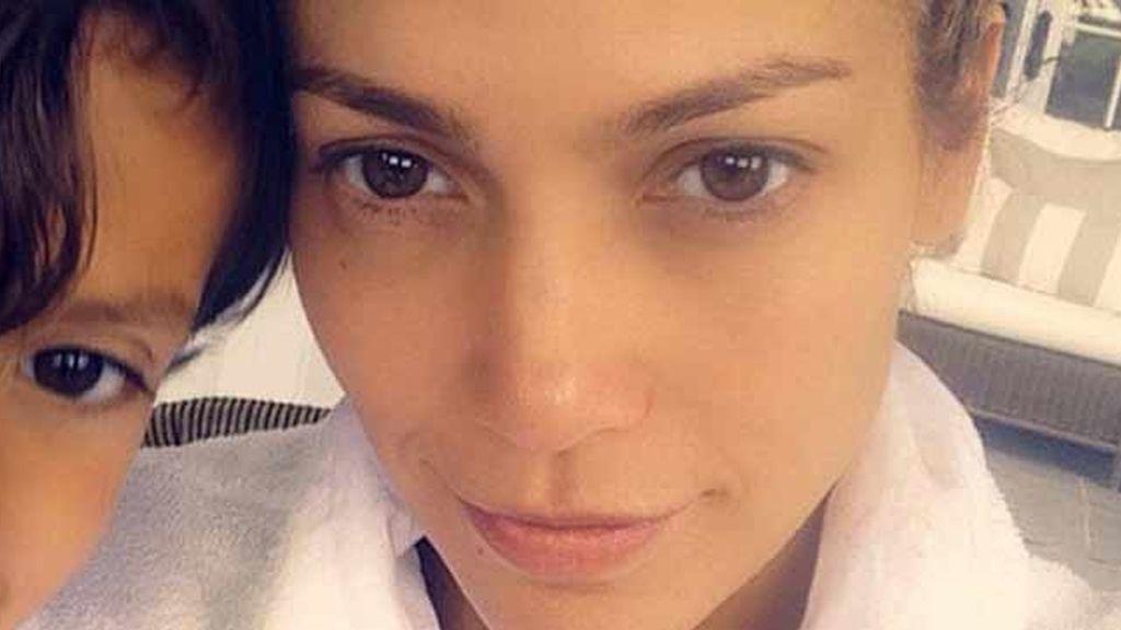 Jennifer Lopez nada más levantarse