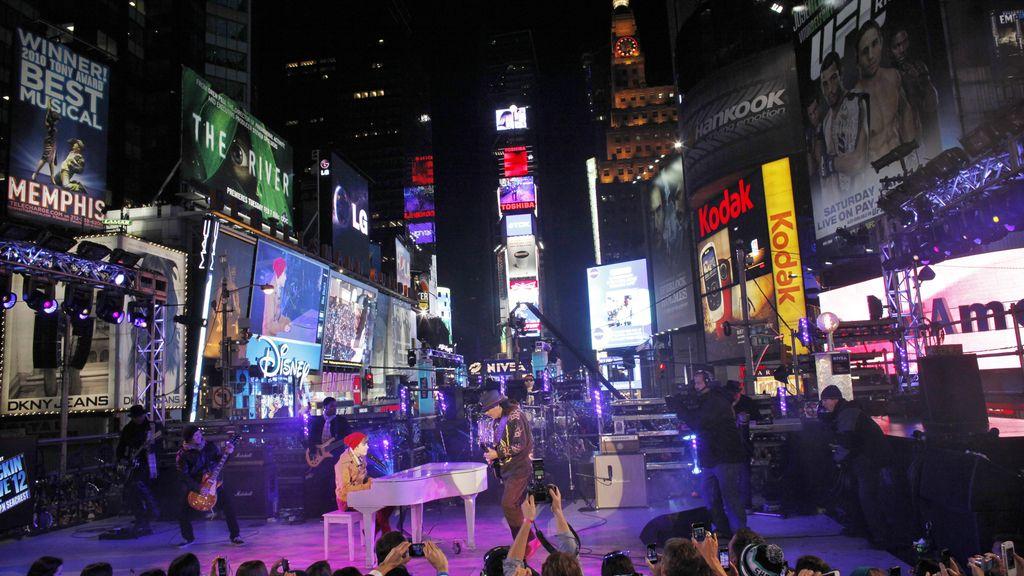 Fiestón de Nochevieja en Nueva York