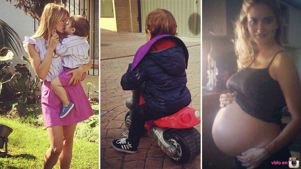 Su primera moto, sus disfraces... Alba es pura dedicación a su hijo