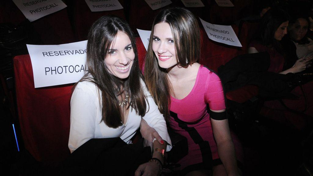 Diana Malave y la actriz Elena Ballesteros