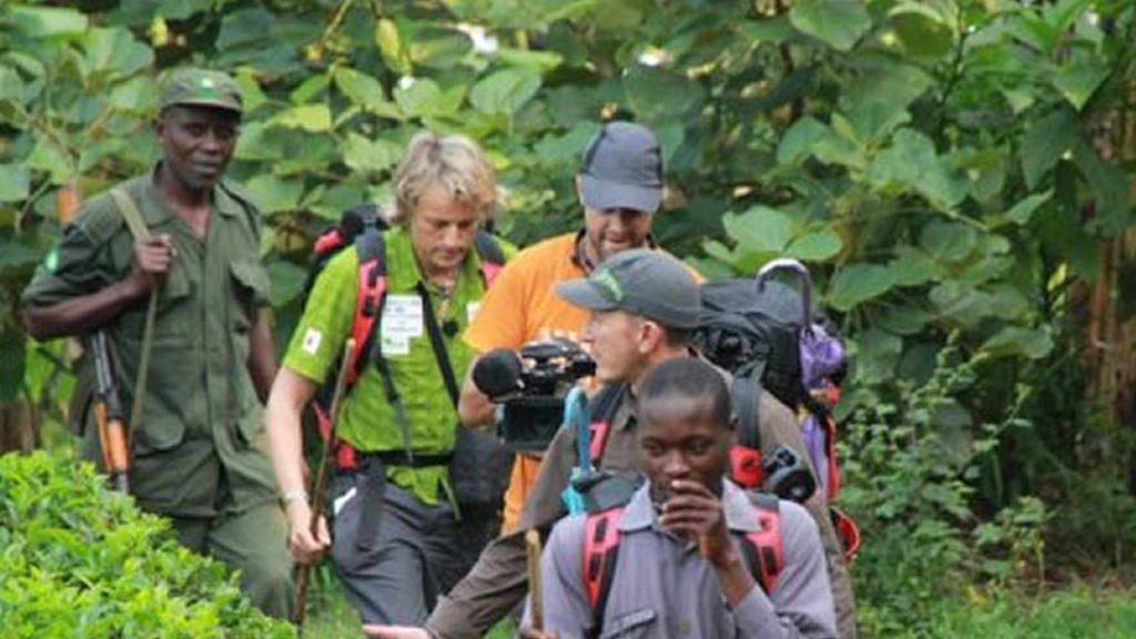 Jesús y el equipo en medio de la selva