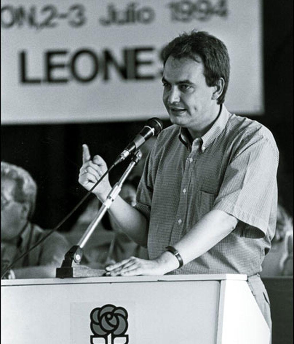 Mitin en León en 1994