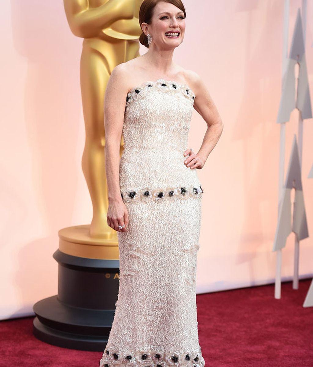 Julianne Moore con vestido de Chanel Alta Costura