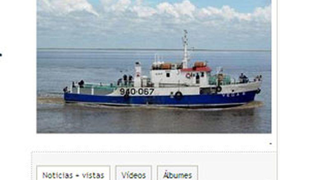 """Imagen de archivo del """"Vega 5"""", secuestrado por piratas somalíes. Foto: La Voz de Galicia."""