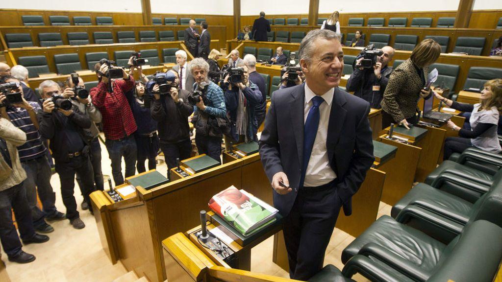 Íñigo Urkullu en el pleno de investidura del nuevo presidente de la Comunidad Autónoma Vasca.
