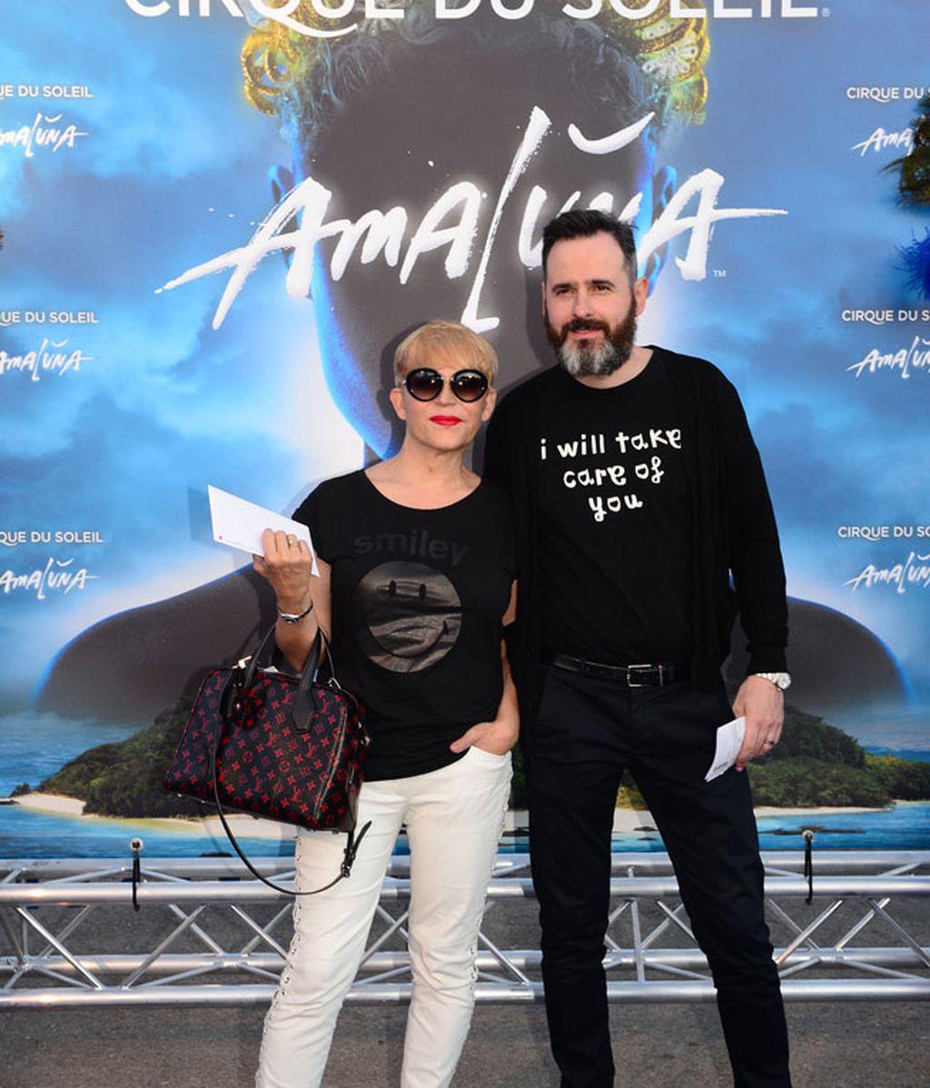 La actriz Antonia San Juan y Luis Miguel Segui, durante la presentación de 'Amaluna'
