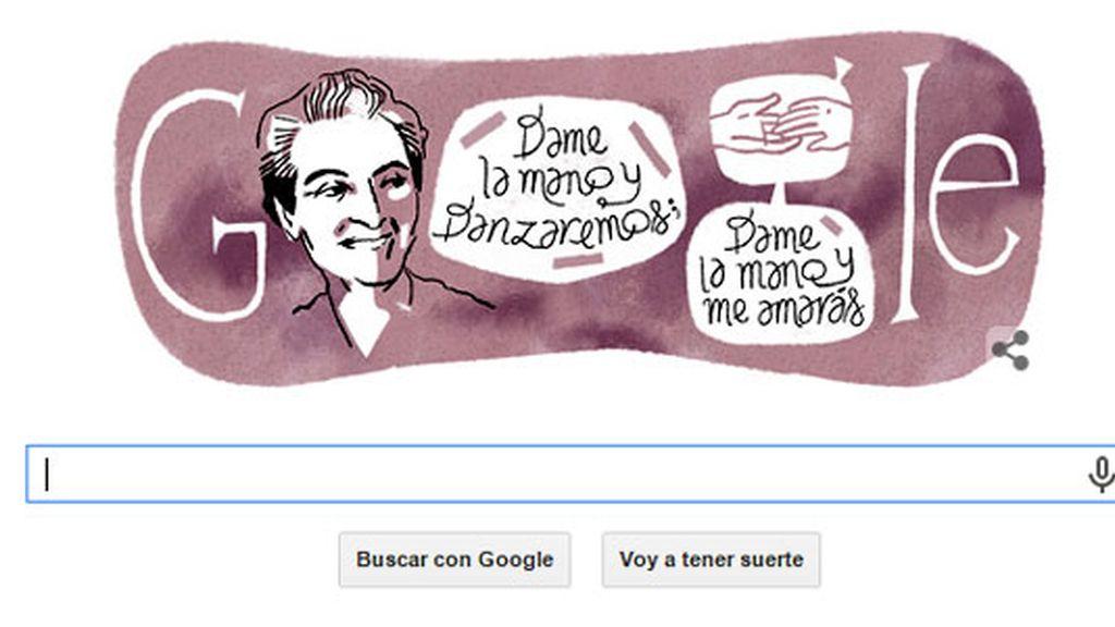 doodle, Google, homenaje Gabriela Mistral, poetisa chilena