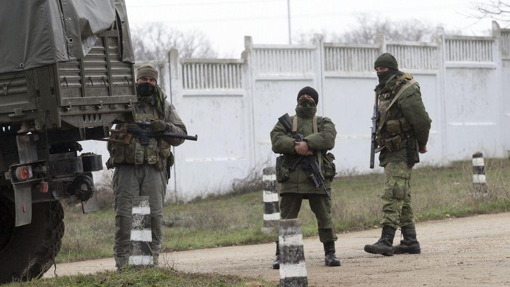 Militares rusos en Crimea. Foto: EFE