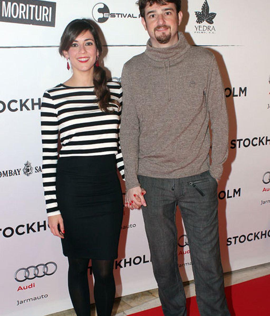 El actor Gorka Otxoa y su chica, Eva Ugarte