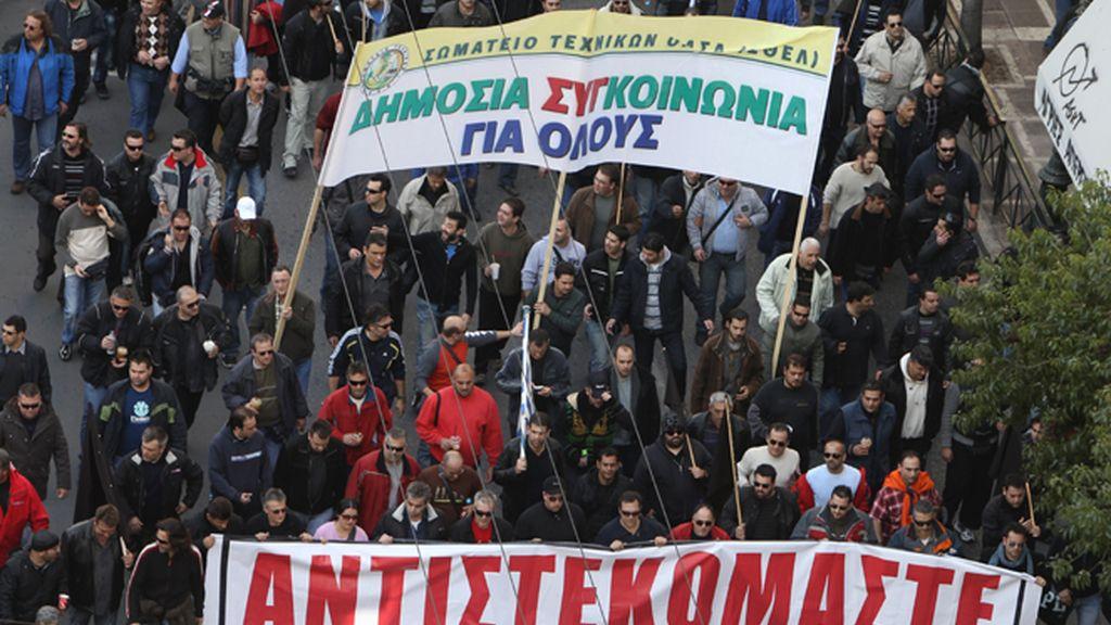 Tensión en la nueva huelga general de Grecia