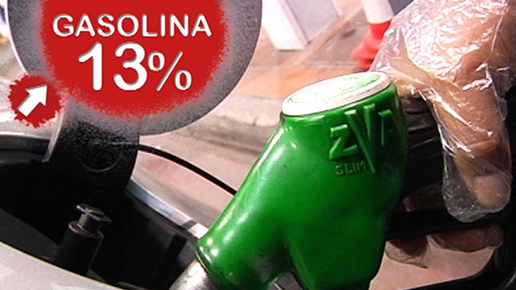 Sube la gasolina